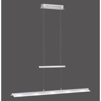 Suspension Leuchten-Direkt NELE LED Acier inoxydable, 5 lumières
