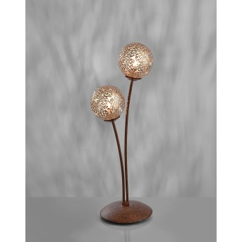 Lampe à poser Paul Neuhaus GRETA Rouille, 2 lumières