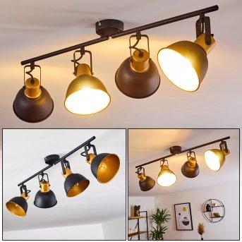 Plafonnier Blackburn Noir doré, 4 lumières