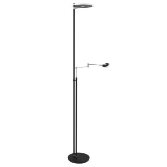 Lampadaire Steinhauer Turound LED Noir, Acier inoxydable, 2 lumières