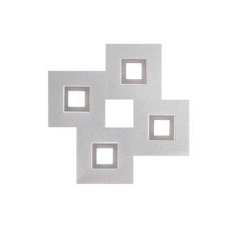Applique murale / Plafonnier Grossmann KARREE LED Aluminium, Titane, 4 lumières