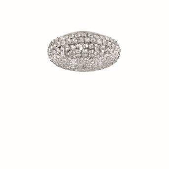 Plafonnier Ideal Lux KING Chrome, Aspect cristal, 5 lumières