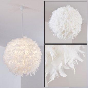 Suspension Skaulo Blanc, 1 lumière