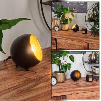 Lampe à poser Hajo Noir doré, 1 lumière