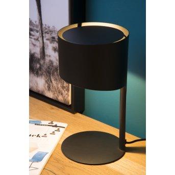 Lampe de table Lucide KNULLE Noir, 1 lumière