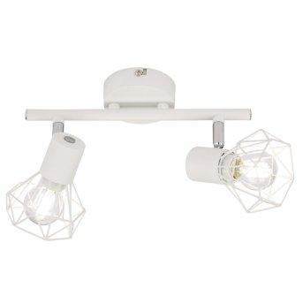 Rail de spots Fischer & Honsel Ran Blanc, 2 lumières