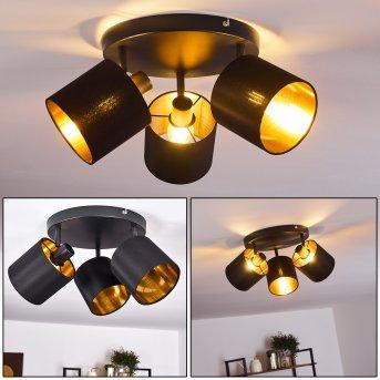 Plafonnier Alsen Noir, 3 lumières