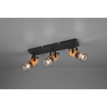 Spot Trio Tosh LED Noir, 3 lumières