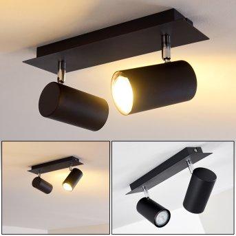 Plafonnier Zuoz Noir, 2 lumières
