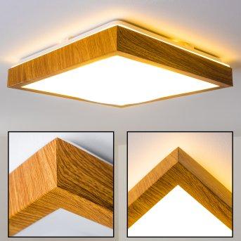 Plafonnier Sora Wood LED Bois clair, 1 lumière