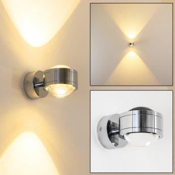 Applique murale INDORE LED Chrome, 2 lumières