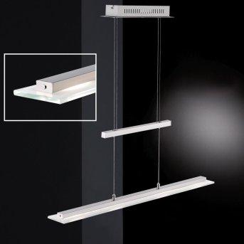 Suspension Honsel Tenso TW LED Nickel mat, Chrome, 3 lumières