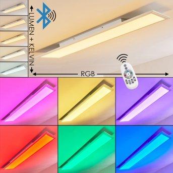 Plafonnier Voisines LED Blanc, 1 lumière, Télécommandes, Changeur de couleurs
