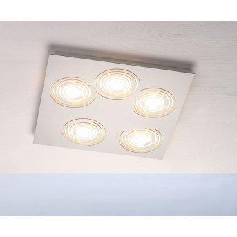 Plafonnier Bopp GALAXY COMFORT LED Aluminium, 5 lumières