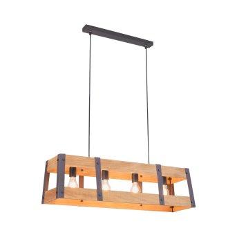 Suspension Leuchten-Direkt CRATE Bois clair, 4 lumières