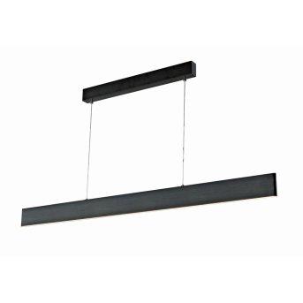 Suspension WOFI SILEAS LED Noir, 1 lumière, Télécommandes