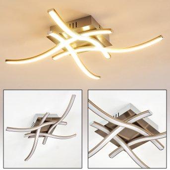 Plafonnier Casale LED Nickel mat, 4 lumières
