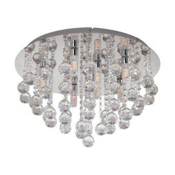 Plafonnier Eglo ALMONTE Chrome, Aspect cristal, 8 lumières