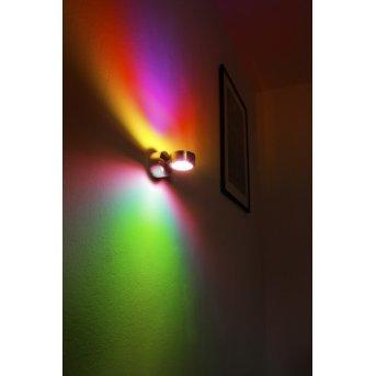 Applique murale Indore LED Aluminium, 2 lumières