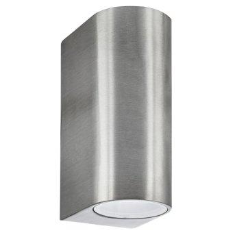 Lampe d'extérieur Searchlight ODU LED Argenté, 2 lumières