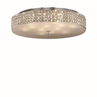 Plafonnier Ideal Lux ROMA Chrome, Aspect cristal, 12 lumières
