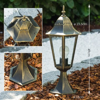 Borne Hongkong Or, Bronze, 1 lumière