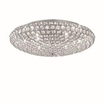 Plafonnier Ideal Lux KING Chrome, Aspect cristal, 9 lumières