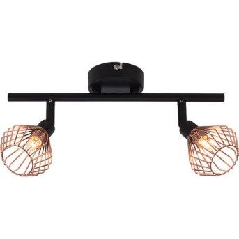 Spot de plafond Brilliant Dalma Noir, 2 lumières