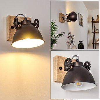 Plafonnier Svanfolk Noir, Brun, Blanc, 1 lumière