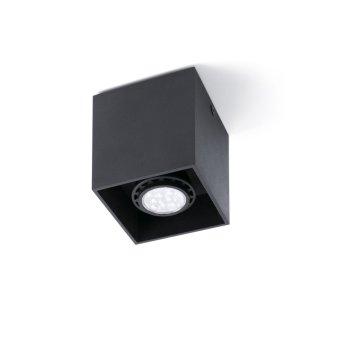 Plafonnier Faro Tecto Noir, 1 lumière