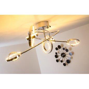 Plafonnier LED Reality Chrome, 5 lumières