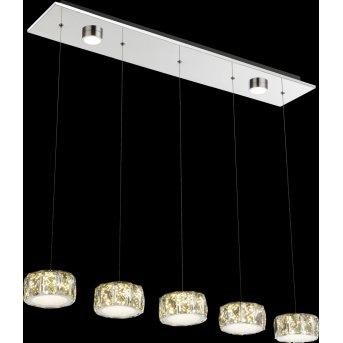 Suspension Globo Amur LED Chrome, 1 lumière