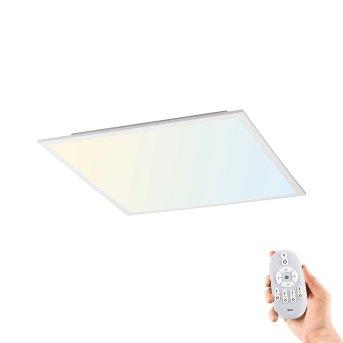 Plafonnier Leuchten-Direkt FLAT LED Blanc, 1 lumière, Télécommandes