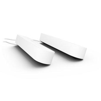 Kit de base double Philips Hue Ambiance White & Color Play Lightbar LED Noir, Blanc, 2 lumières, Changeur de couleurs