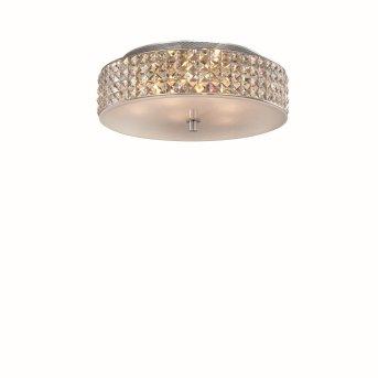 Plafonnier Ideal Lux ROMA Chrome, Aspect cristal, 6 lumières