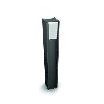 Borne lumineuse Philips Hue White Turaco LED Anthracite, 1 lumière