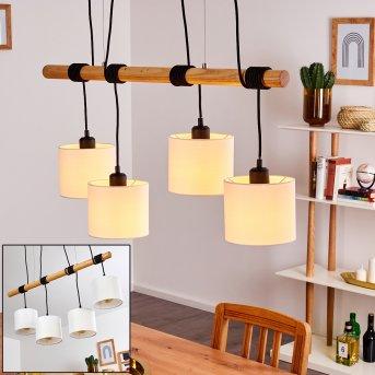 Suspension Sambia Noir, Brun, 4 lumières