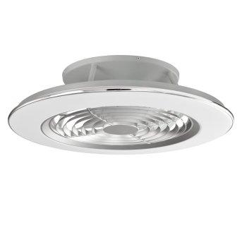 Ventilateur de plafond Mantra ALISIO LED Chrome, Gris, 1 lumière, Télécommandes