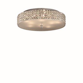 Plafonnier Ideal Lux ROMA Chrome, Aspect cristal, 9 lumières