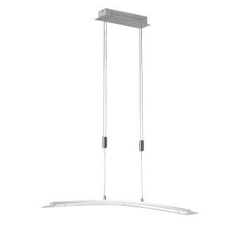 Suspension Honsel Metis LED Nickel mat, 1 lumière, Changeur de couleurs