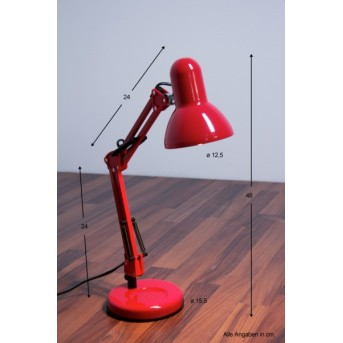 Lampe de table Globo Famous Rouge, 1 lumière