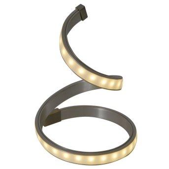Lampe à poser Näve LoopLine LED Acier inoxydable, 1 lumière