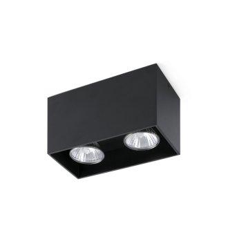 Plafonnier Faro Tecto Noir, 2 lumières
