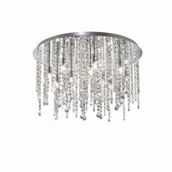 Plafonnier Ideal Lux ROYAL Chrome, Aspect cristal, 12 lumières