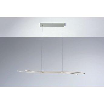 Suspension Bopp Flow LED Aluminium, 1 lumière