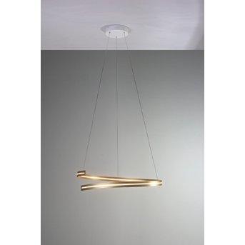 Suspension Bopp BREAK LED Or, 1 lumière