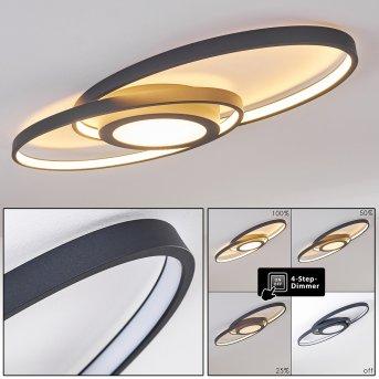 Plafonnier Chunky LED Gris, 1 lumière
