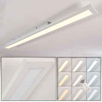 Plafonnier Ailik LED Blanc, 1 lumière, Télécommandes