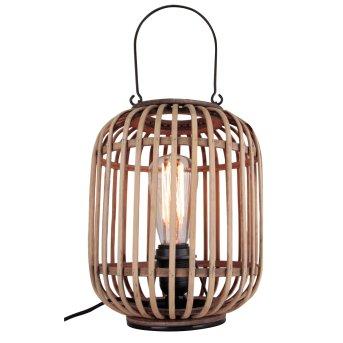 Lampe de table Brilliant Woodrow Bois clair, 1 lumière