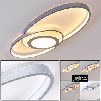 Plafonnier Chunky LED Argenté, 1 lumière